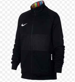 Nike LVL UP Dri-Fit Youth FZ Jacket, Black, Front