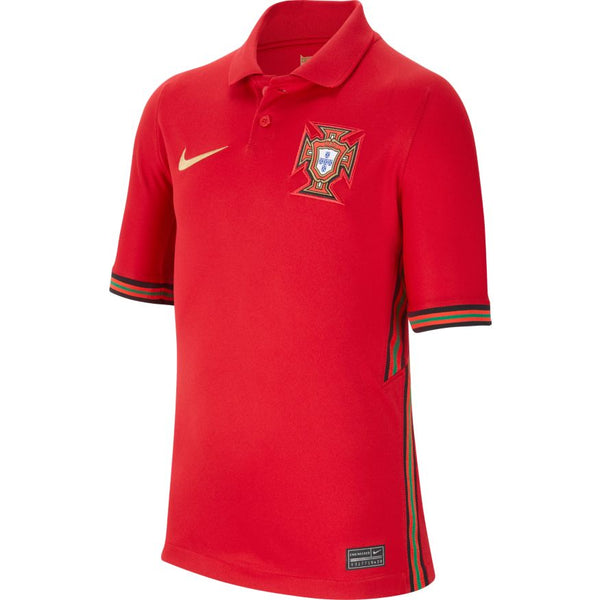 Portugal Euro 2020 Home Soccer Jersey, Kids, Front View