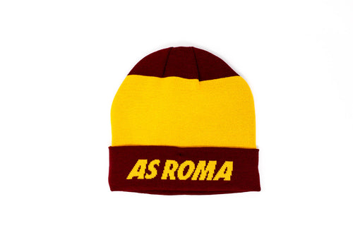Nike AS Roma Beanie, Red & Yellow, Front View