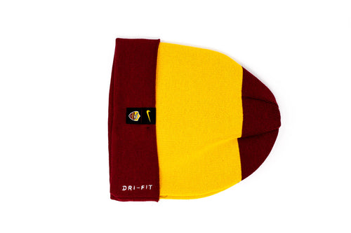 Nike AS Roma Beanie, Red & Yellow, Back View