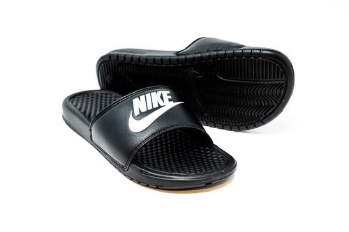 Nike Benassi JDI Slide, Black & White