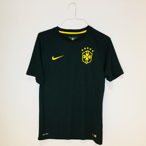 Nike Brazil World Cup 2014 Third Replica Soccer Jersey, Short Sleeve, Black