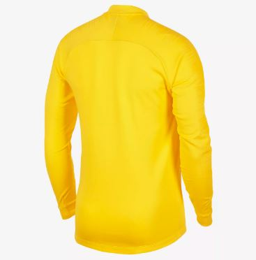 Nike Brazil World Cup 2018 Track Jacket, Short Sleeve, Yellow, Back View