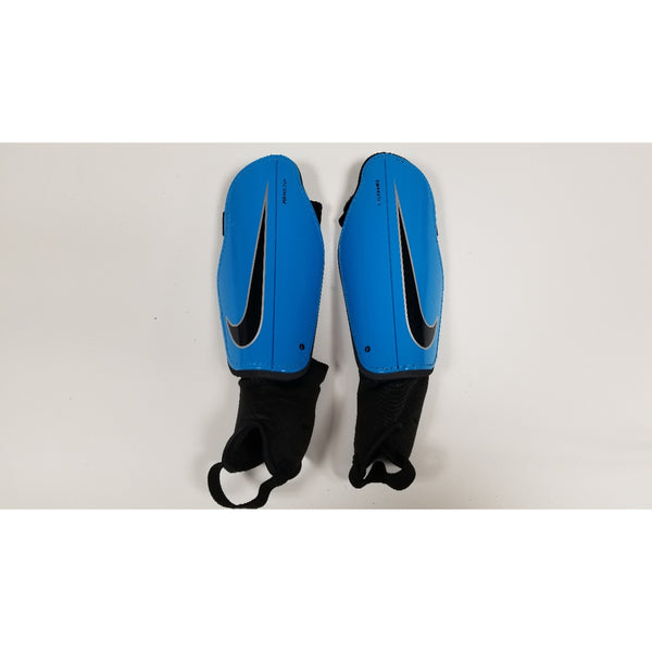 Nike Charge Shin Guards, Blue & Black, Front View