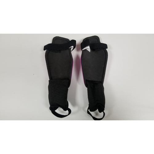 Nike Charge Shin Guards, Purple & Black, Back View