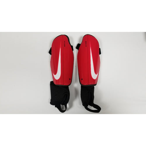Nike Charge Shin Guards, Red & Black, Front View