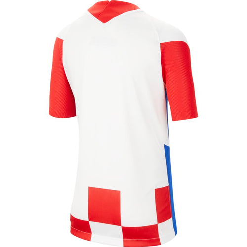 Croatia Euro 2020 Home Soccer Jersey, Kids, Back View