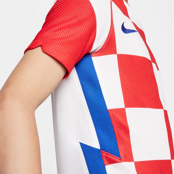 Croatia Euro 2020 Home Soccer Jersey, Kids, Side View