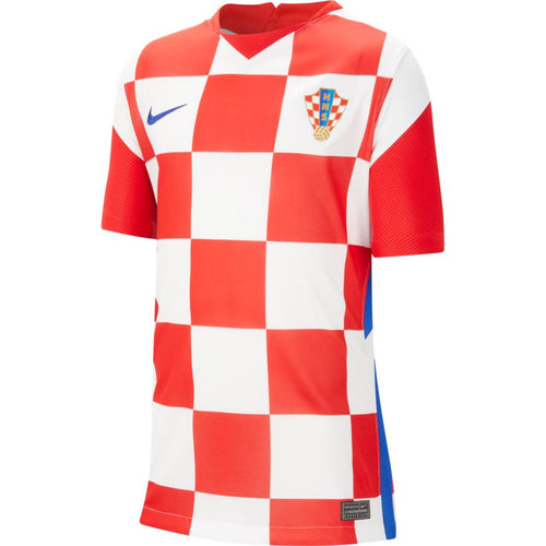 Croatia Euro 2020 Home Soccer Jersey, Kids, Front View