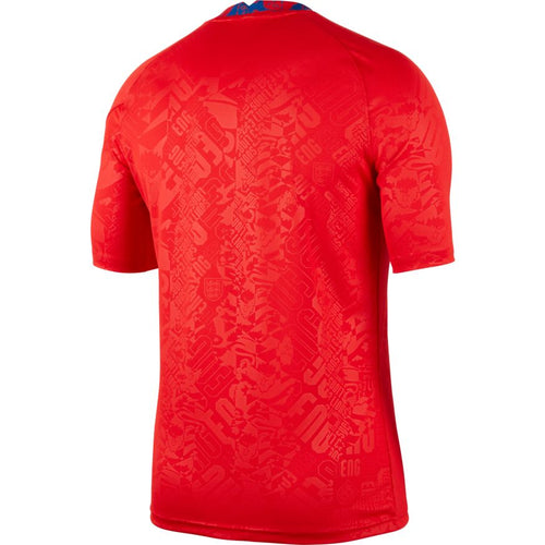 England Euro 2020 Pre-Match Training Jersey, Adult, Back View