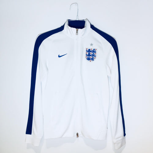 Nike England N98 Track Jacket 2014, Long Sleeve, White,