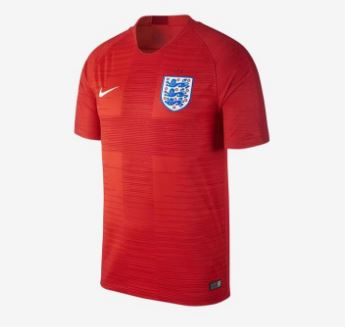 Nike England World Cup 2018 Away Replica Soccer Jersey, Short Sleeve, Red