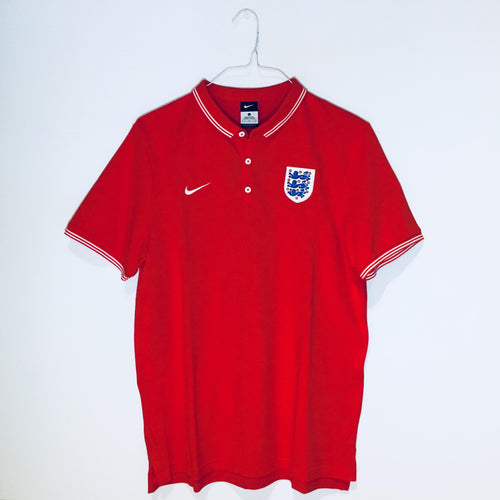 Nike England World Cup 2014 Polo, Short Sleeve, Red