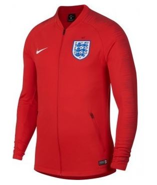 Nike England World Cup 2018 Track Jacket, Long Sleeve, Red