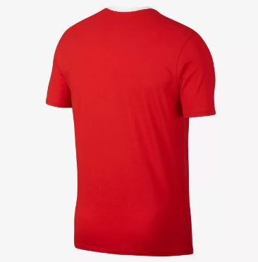 Nike England World Cup 2018 T-Shirt, Short Sleeve, Red, Back View