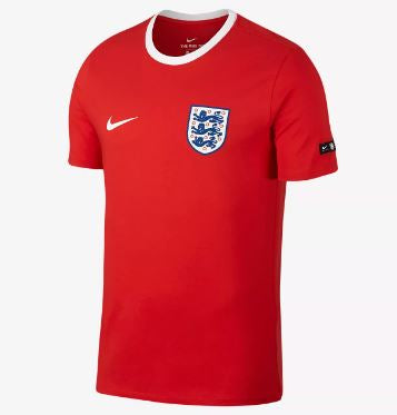 Nike England World Cup 2018 T-Shirt, Short Sleeve, Red, Front View