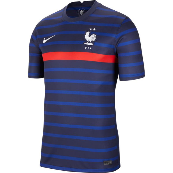France Euro 2020 Home Soccer Jersey , Adult, Front View