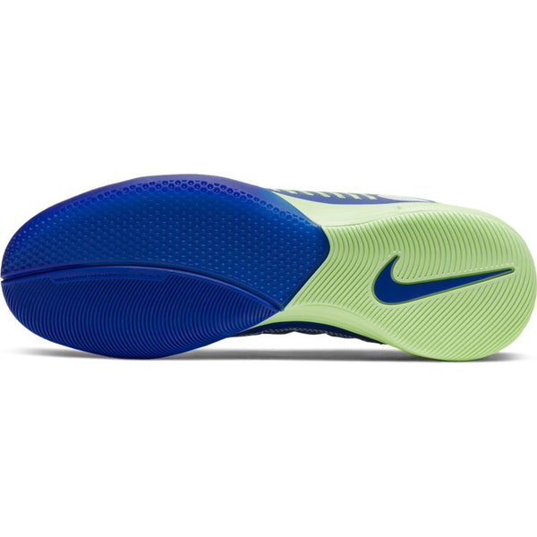 Nike Lunar Gato II Indoor Soccer Futsal Shoe, Blue, Leather Upper, Rubber Soleplate, Outsole View