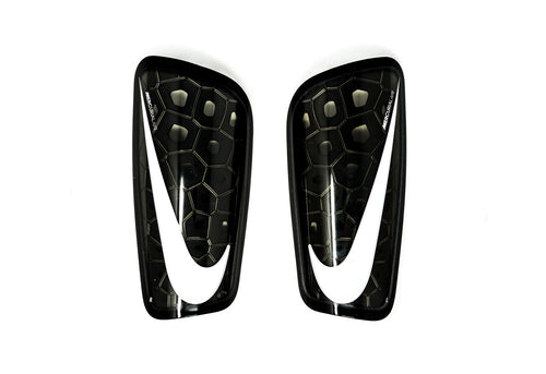 Nike Mercurial Lite Shin Guards, Black & White, Front View