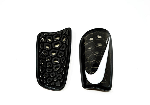 Nike Mercurial Lite Shin Guards, Black & White, Back View
