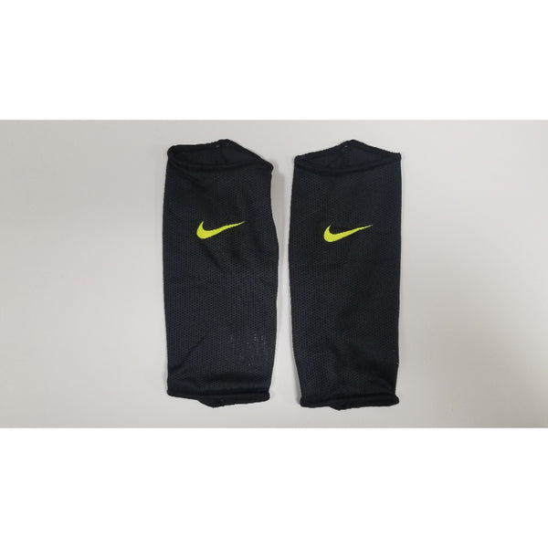 Nike Mercurial Lite Shin Guard Sleeves, Black & Lime
