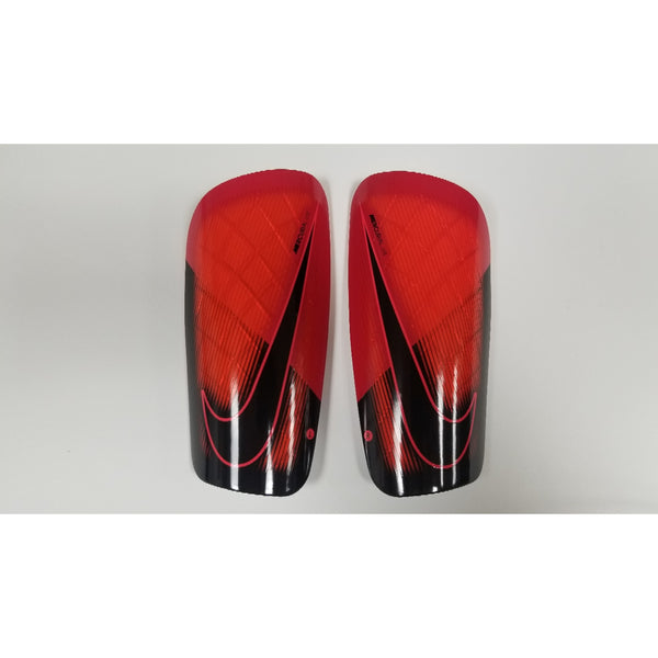 Nike Mercurial Lite Shin Guards, Red & Black, Front View