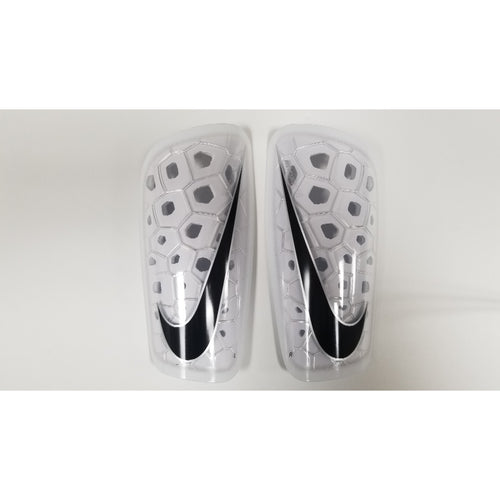 Nike Mercurial Lite Shin Guards, White, Front View