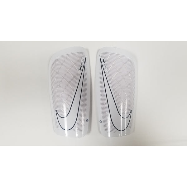Nike Mercurial Lite Shin Guards, White & Black, Front View
