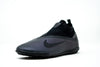 Nike React Phantom Vision 2 Pro Dynamic Fit TF Soccer Cleat, Black, Synthetic Upper, Rubber Studs, Side View