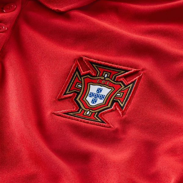 Portugal Euro 2020 Home Soccer Jersey, Adult, Chest View