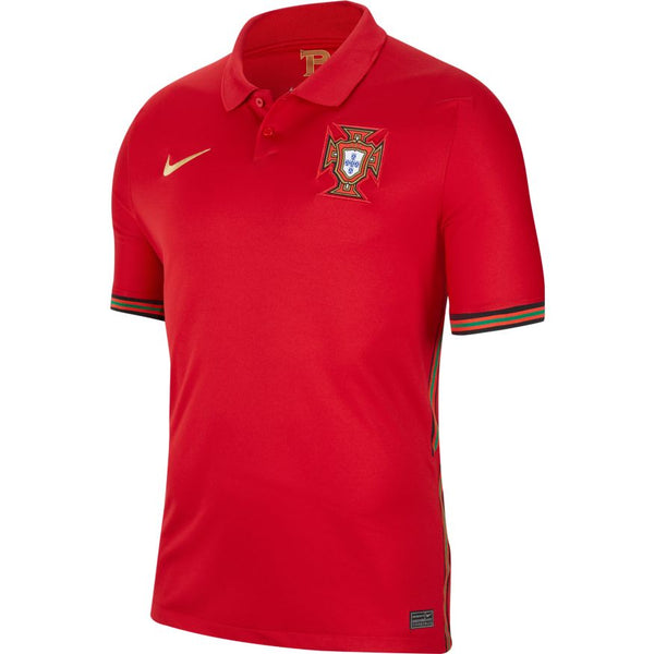 Portugal Euro 2020 Home Soccer Jersey, Adult, Front View