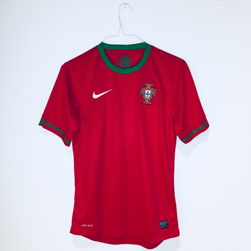 Nike Portugal Home Replica Soccer Jersey, 2012/2013, Short Sleeve, Red