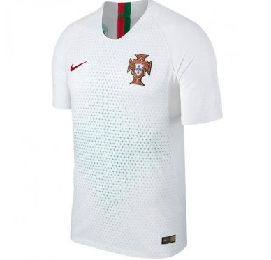 Nike Portugal World Cup 2018 Away Replica Soccer Jersey, Short Sleeve, White, Front View