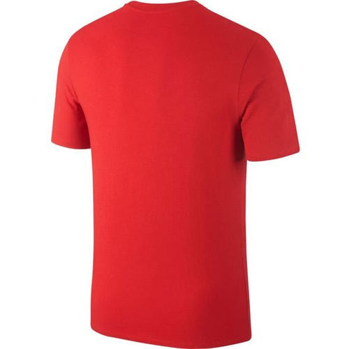 Nike Portugal World Cup 2018 Crest T-Shirt, Short Sleeve, Red, Back View