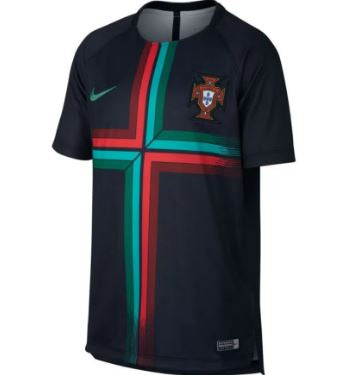 Nike Portugal World Cup 2018 Dry Squad Top, Short Sleeve, Black/Red/Blue