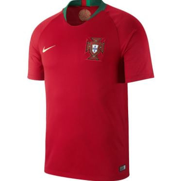 Nike Portugal World Cup 2018 Home Replica Soccer Jersey, Red, Short Sleeve, Front View