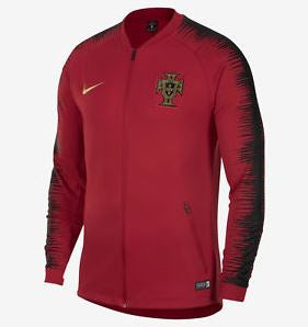 Nike Portugal World Cup 2018 Track Jacket, Long Sleeve, Red, Front View