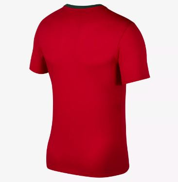 Nike Portugal World Cup 2018 T-Shirt, Short Sleeve, Dark Red, Back View