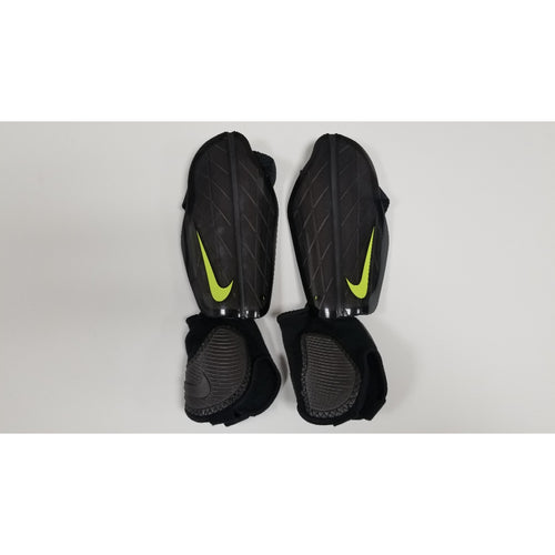 Nike Protegga Flex Shin Guards, Black, Front View