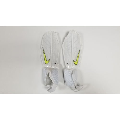 Nike Protegga Flex Shin Guards, White, Front View