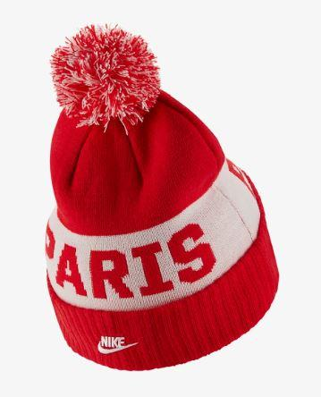 Nike Paris Saint-Germain POM Beanie 19/20, Red, Back View