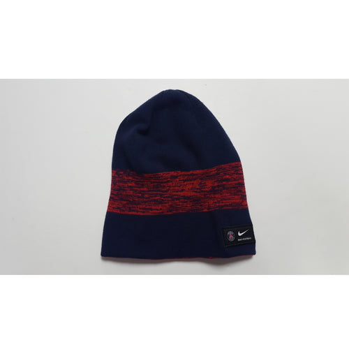 Nike Paris-Saint Germain Blue & Red Reversible Beanie, Front View