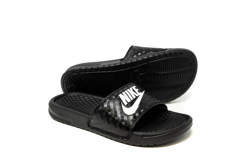 Nike Women's Benassi JDI Slide, Black & White