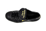Pantofola d'Oro Dream Black FG Soccer Cleat, Leather Upper, 12 Conical Studs, Aerial View