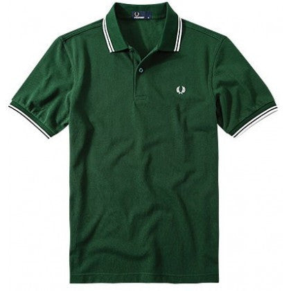 Fred Perry Twin Tipped Polo Green