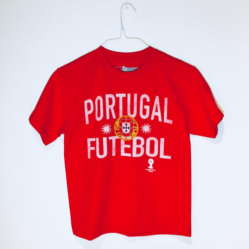 Portugal World Cup Youth T-Shirt, Short Sleeve, Red