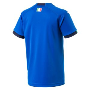 Puma Italy World Cup 2018 Home Replica Soccer Jersey, Short Sleeve, Blue, Back View