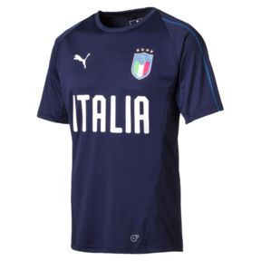 Puma Italia Training Jersey '18, Short Sleeve, Navy