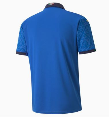 Italy Euro 2020 Home Soccer Jersey, Adult, Back View