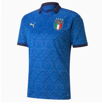 Italy Euro 2020 Home Soccer Jersey, Adult, Front View